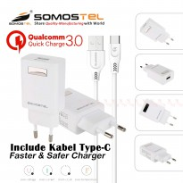 Charger Type C Fast Charging Qualcomm Quick Charge 3.0 SMS-A75 Somostel