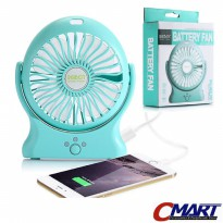 Robot PowerBank RT-BF06 2000 mAh Kipas Angin Mini Portable Fan RT-BF06