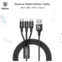 Baseus Rapid Series 3-in-1 Cable Apple Micro USB Type-C