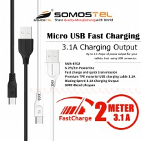 Kabel Data Charger 2 Meter Micro USB Fast Charging 3.1 Ampere SMS-BT02 Somostel
