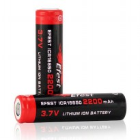 Efest ICR 16650 Li-ion Battery 2200mAh 3.7V with Flat Top - Black