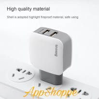 Baseus Letour 2.4A Dual USB Port Travel Charger Adapter FAST CHARGING