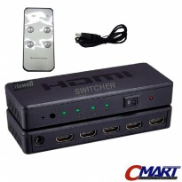 HDMI Switcher 4 port Device Switch with Remote Control - GRC-HDMI-401
