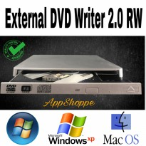 External DVD-RW CD Writer 2.0 Burner for Mac Laptop PC