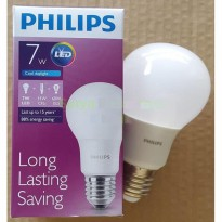 Lampu LED Philips 7 watt Bohlam 7w / Philip Putih 7 w Bulb LED 7watt
