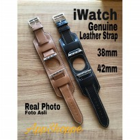 Apple iWatch Leather Strap Cuff Buckle Genuine Leather 38mm 42mm