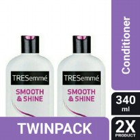 TWIN PACK - TRESEMME CONDITIONER SMOOTH AND SHINE 340ML-y
