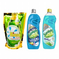 [Clearance Sale] SUNLIGHT ANTI BACTERIA & CLEAN & SOFT BOTTLE 750ML/RINSO ANTINODA LIQUID PCH 800ML