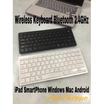 Wireless Keyboard Ultra Flat 2.4GHz Bluetooth iOS Android OS Windows