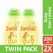 TWIN PACK - Zwitsal Baby Hair Lotion Natural Avks - 200ml-y