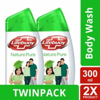 TWIN PACK - LIFEBUOY SABUN CAIR NATURE PURE BOTOL 300ML-y