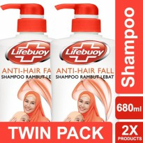 TWIN PACK - LIFEBUOY SHAMPOO ANTI HAIRFALL 680ML-y