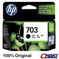 Tinta HP 703 BLACK Original Ink Catridge Cartridge Hitam