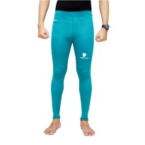 Tiento Baselayer Compression Celana Olahraga Tight Legging Long Pants Turkis Original