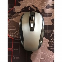 Wireless Optical Mouse LIGHTWEIGHT USB 2.4Ghz Plug and Use - SILVER