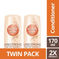 TWIN PACK - SUNSILK HIJAB RECHARGE CONDITIONER LIVELY STRONG ANTI HAIRFALL 170ML-y