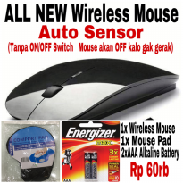 Magic Mouse Wireless Mouse 2.4Ghz + Mouse Pad + Alkaline Battery