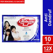 LIFEBUOY SHAMPOO ANTI DANDRUFF 10ML 12 Pcs-y