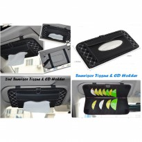 2 in 1 Sunvisor Tissue & CD Holder