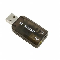 Sound Card 3D Adapter USB 5.1 Channel External Soundcard Audio - Black