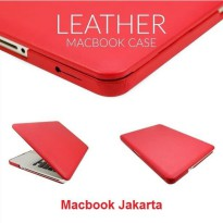 Case Macbook Pro 15 Inch Leather Red