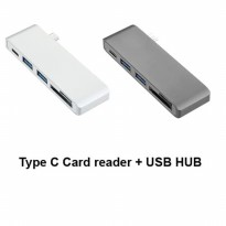 HOT PROMO!!! USB HUB Type C for Apple Macbook Windows 5 in 1 Card reader and Hub