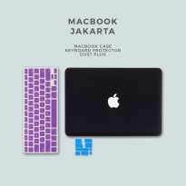 Bundling - Case Macbook Air Matte + Keyboard Protector + Dust Plug