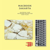 Bundling Promo - Case Macbook Marble + Keyboard Protector + Dust Plug