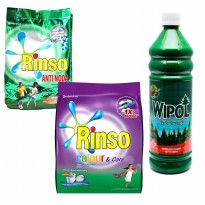 [Clearance Sale] RINSO COLOUR&CARE 800g / RINSO ANTI NODA B01 900g / WIPOL CLASSIC PINE BOTTLE 800ml