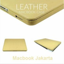 Case Macbook Air 13 Inch Leather Beige