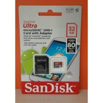 Micro SD SANDISK 32 GB 80MB/S MicroSDHC SanDisk 32GB ULTRA Class 10