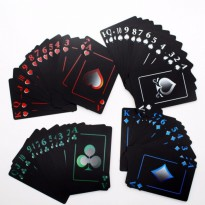 Kartu Remi Eksklusif - Waterproof PVC Poker Playing Cards Novelty High/ LNS333