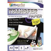 Blueprint Transfer Paper DARK (BP-TKA3160) - A3, 5 Sheet, 160 gsm, Cast Coating, Matte, Water Resistant