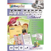 Blueprint Art Paper Sheet (AP-A4150) - A4, 50 Sheet, 150gsm, Cast Coating, Glossy