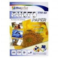 Blueprint Photo Paper (BP-GPA4230) - A4, 20 Sheet, 230 gsm, Cast Coasting, Glossy, Water Resistant ( Bunga Matahari)
