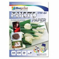 Photo Paper (BP-GPA4230) - A4, 20 Sheet, 230 gsm, Cast Coasting, Glossy, Water Resistant / Polos