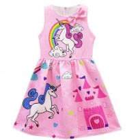 Dress Anak Cantik Unicorn Istana