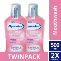 TWIN PACK - PEPSODENT MOUTHWASH SENSITIVE EXPERT 500ML