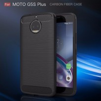 Motorola Moto G5s Plus Softcase Carbon Fiber TPU Brushed Shockproof Black