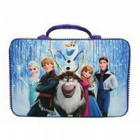 Tas Travel Bag Kanvas Frozen Ungu