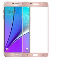 HMC Samsung Galaxy J7 Prime - 2.5D Full Screen Tempered Glass + Lis Pink Gold