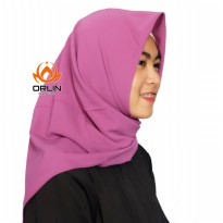 ORLIN HIJAB SEGIEMPAT BAHAN BUBBLE POLOS SQUARE BUBBLE BY INDOHIJAB GROSIR