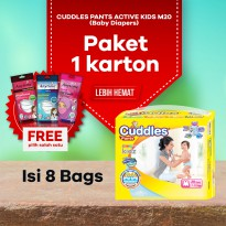Paket 1 Karton Popok - Cuddles Diapers Pull-Up Pants M20 - Better Than Sweety & Mamy Poko