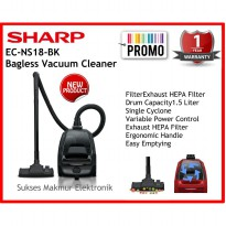Vacuum Cleaner Sharp EC-NS18-BK, Cap 1,8 Liter,450 Watt