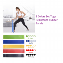 Y013 Five Colors Set Yoga Resistance Rubber Bands Fitness Pilates