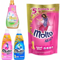 [Clearance Sale] MOLTO ALL IN 1 PCH 900ml/MOLTO ALL IN 1 BTL 800ml/RINSO MOLTO CAIR BTL 1000ml