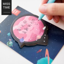 Planetary Post-its / Label Note Kertas Tulis Tempel Catatan Mini Lucu Unik Imut Murah