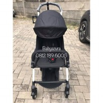 STROLLER YOYA BLACK FREE FOOTREST ORIGINAL NEW BORN 175