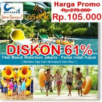 (Limited Offer) Promo Tiket WaterBoom PIK