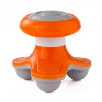Mini Electric Massager / Alat Pijat Badan Genggam - Orange